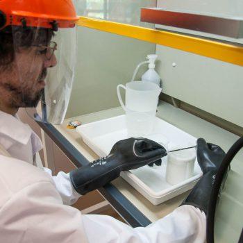 Etching de muestras irradiadas