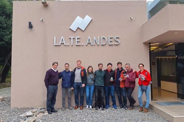 Visita de la empresa Total a LA.TE. ANDES S.A.