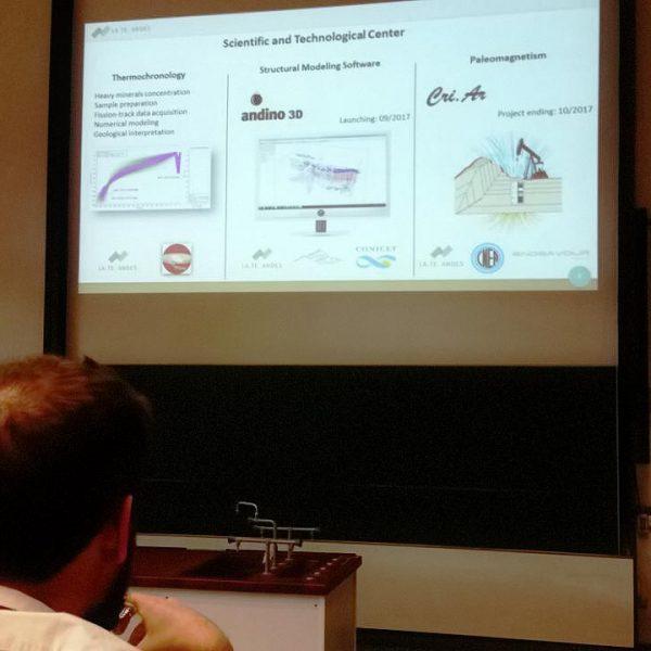 Presentación de LaTe Andes en el 24th Colloquium on Latin American Earth Sciences