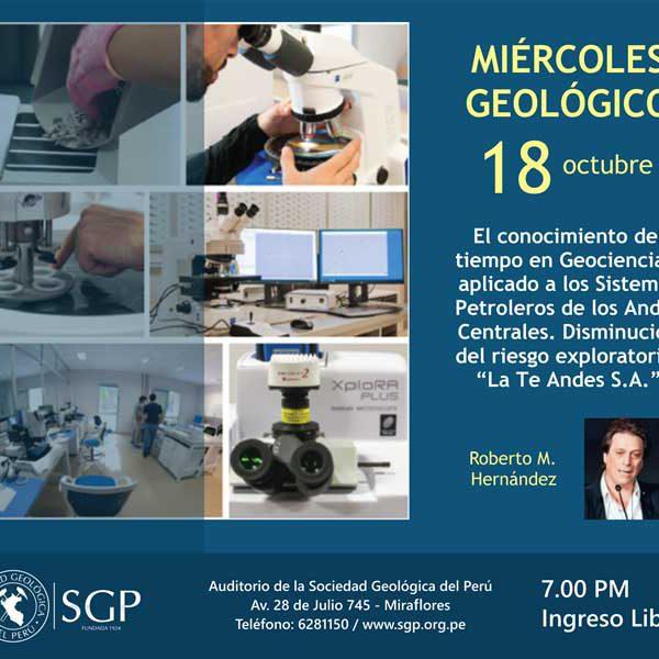 Presentación de La.Te. Andes en la Sociedad Geológica del Perú