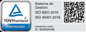 Certificación Sistema de Gestión ISO9001-ISO45001 ID 9000005266