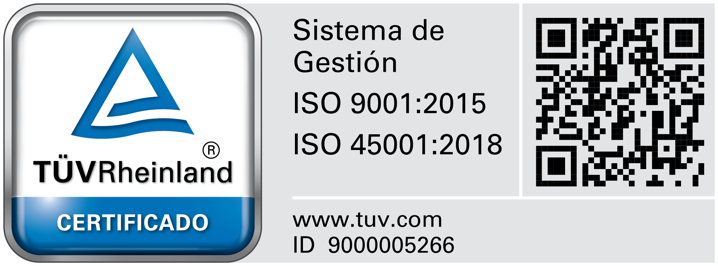 Certified Management System ISO 9001:2015 - ISO 45001:2018
